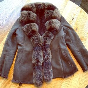 Jackets & Blazers - Rabbit and fox fur coat